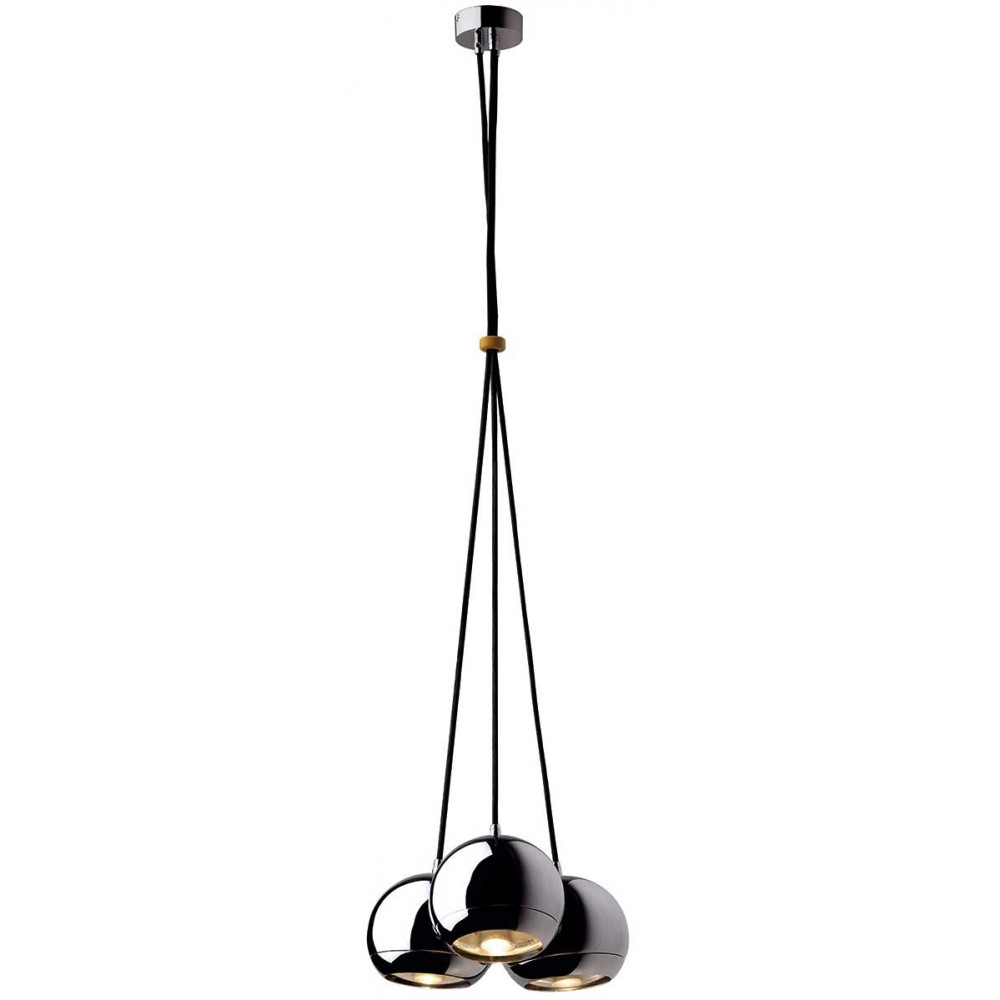 suspension 3 boules chrom es un luminaire design sur lampe avenue. Black Bedroom Furniture Sets. Home Design Ideas