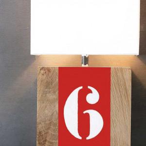 Applique bois L34 rouge personnalisable