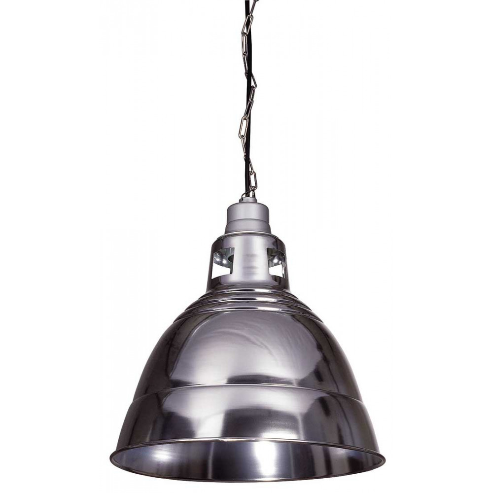 Suspension industrielle alu pour une ambiance loft lampe avenue - Lampe suspension industrielle ...