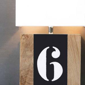 Applique bois et gris fonte
