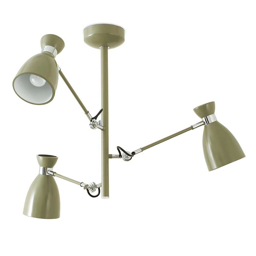 luminaire suspension articul e verte avec 3 bras lampe. Black Bedroom Furniture Sets. Home Design Ideas