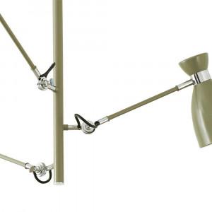 Luminaire suspension articulée verte