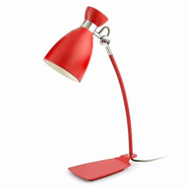 Lampe metal rouge