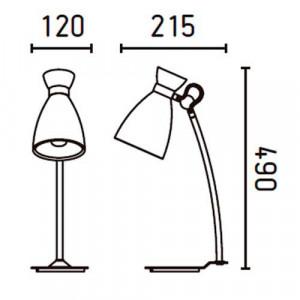 Lampe dimensions