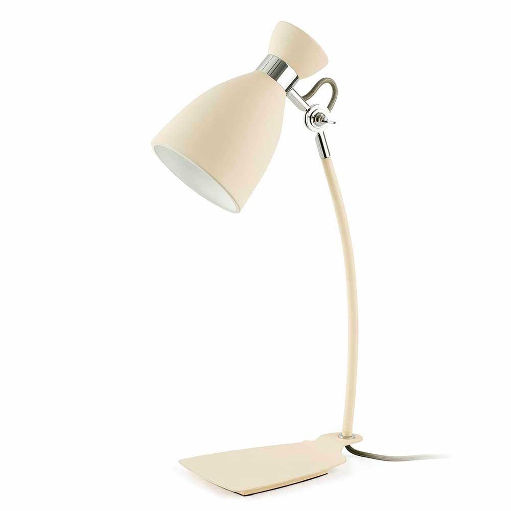 Lampe r tro blanche en m tal sign e faro for Lampe exterieur blanche