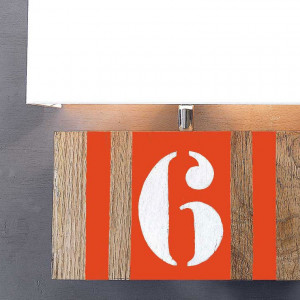 Applique orange bois