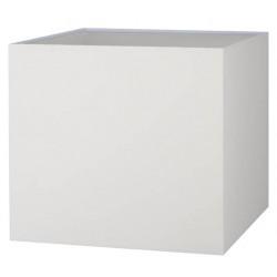 Abat-jour carré crème