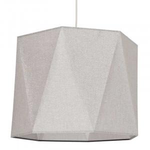 Suspension tissu blanc métallisé