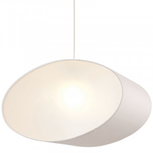 Suspension blanche ovale avec c t s opaques en vente sur for Suspension design blanche
