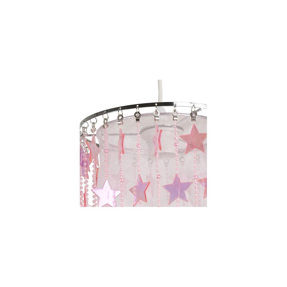 suspension blanche rose enfant luminaires en vente sur. Black Bedroom Furniture Sets. Home Design Ideas