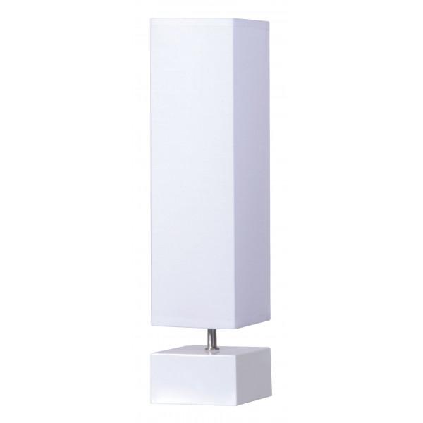 Lampe blanche abat jour cubique tendance achat sur lampe avenue - Lampe design blanche ...