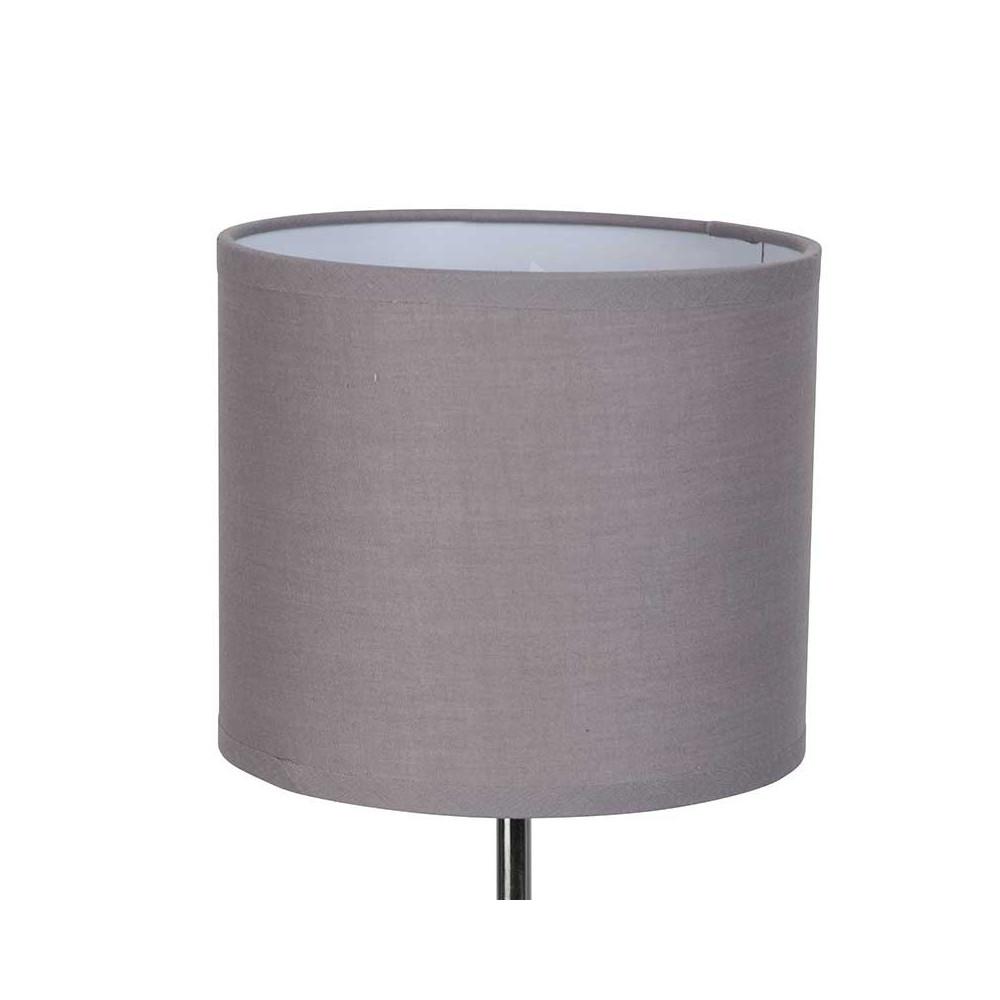 lampe abat jour taupe et pied m tal pas cher sur lampe avenue. Black Bedroom Furniture Sets. Home Design Ideas