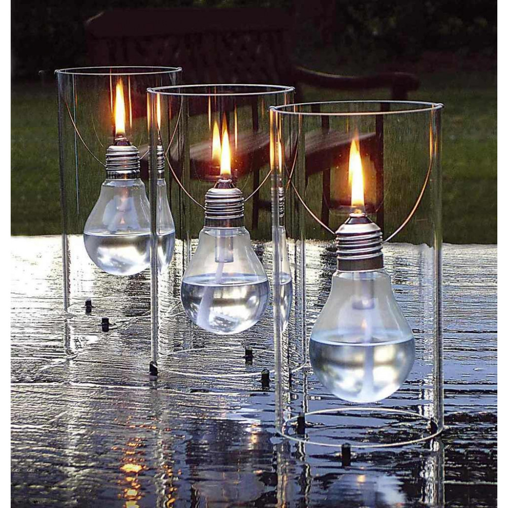 Lampe huile d co en verre for Lustre exterieur design