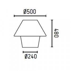 Lampe extérieur blanche dimensions