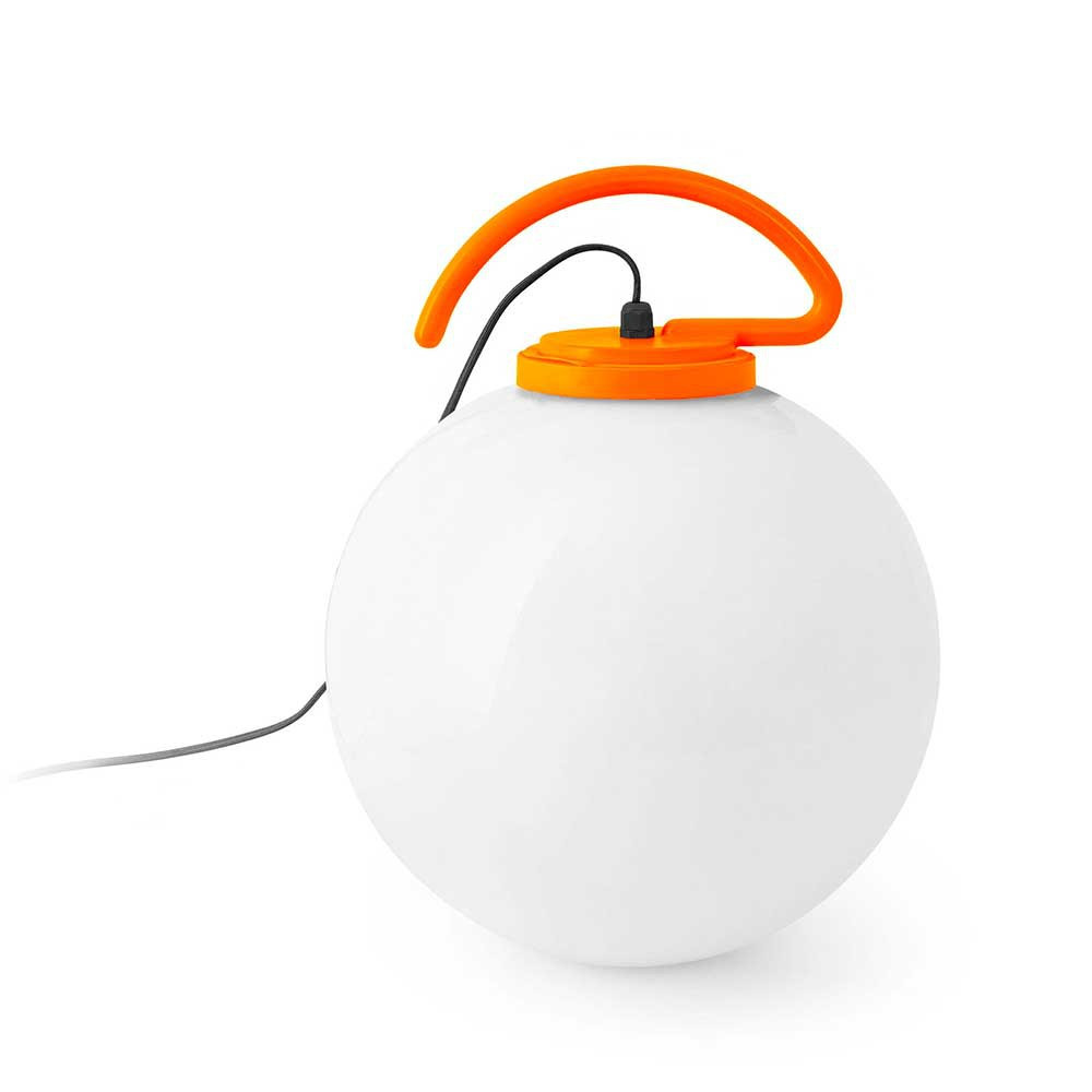 Lampe baladeuse ext rieur suspendre blanche et orange for Lampe exterieur a suspendre