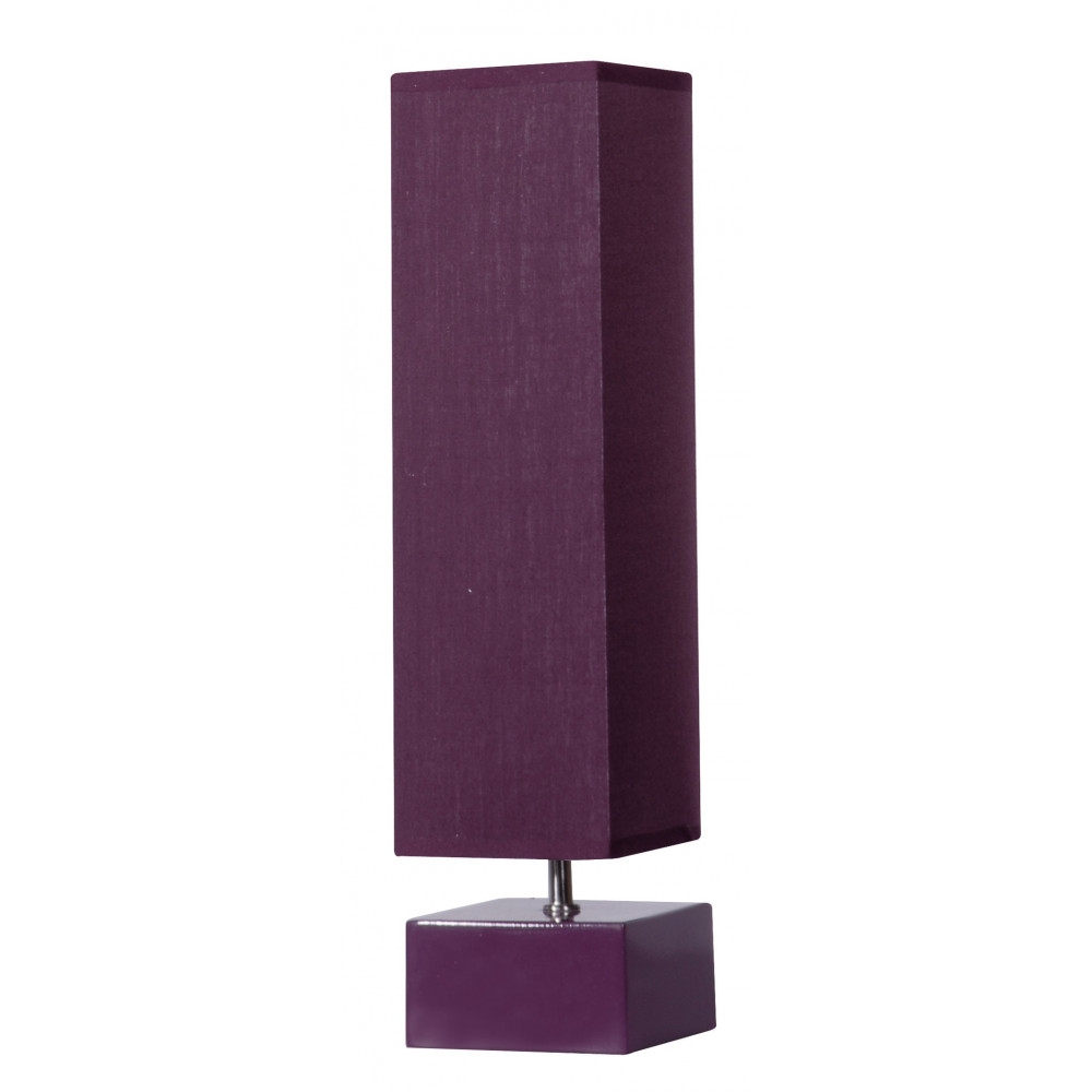 lampe carr e abat jour violet vertical en vente sur lampe avenue. Black Bedroom Furniture Sets. Home Design Ideas