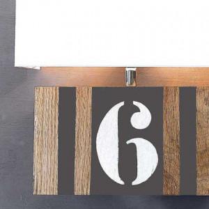 Applique personnalisable L34 bois et taupe