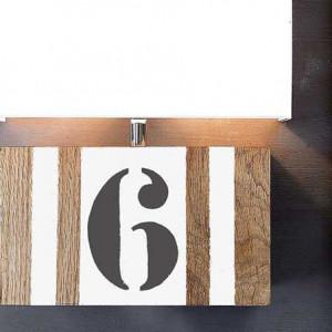 Applique bois personnalisable bande blanche