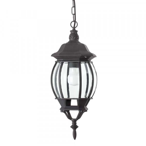Lanterne ext rieure classique suspendre en alu noir for Lampe exterieur a suspendre