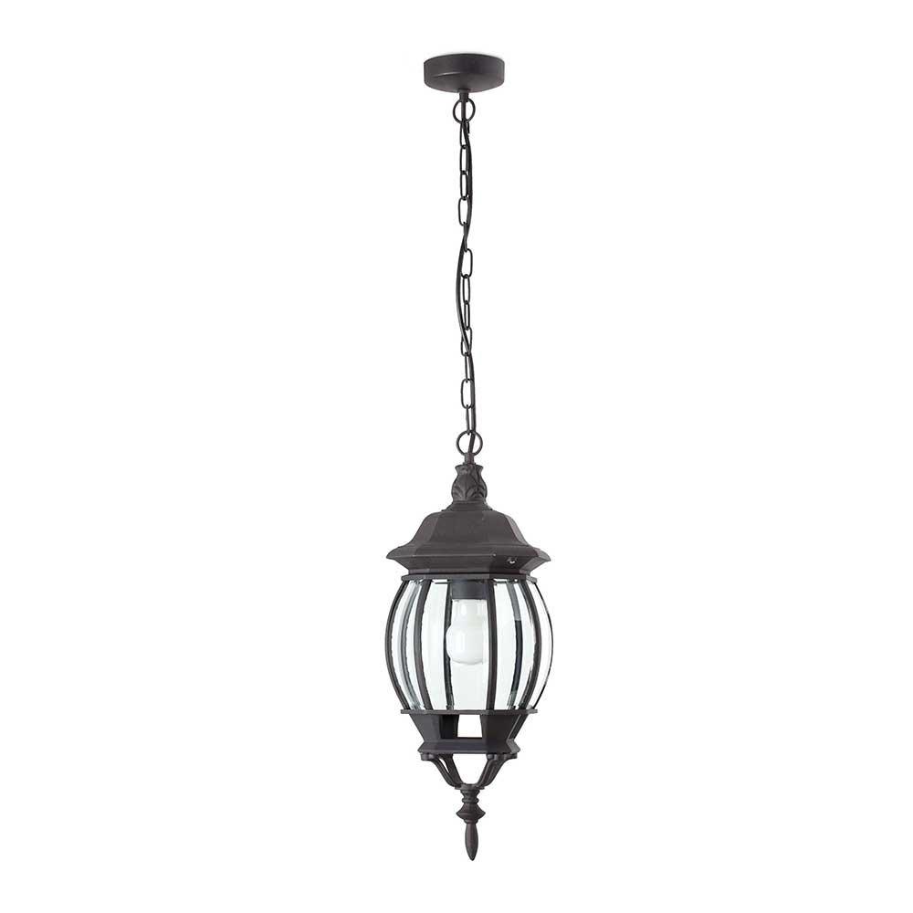 lanterne ext rieure classique suspendre en alu noir. Black Bedroom Furniture Sets. Home Design Ideas