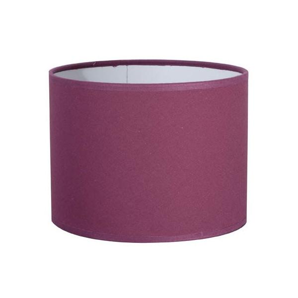 Abat jour cylindre en coton prune sur lampe avenue for Suspension plusieurs abat jour