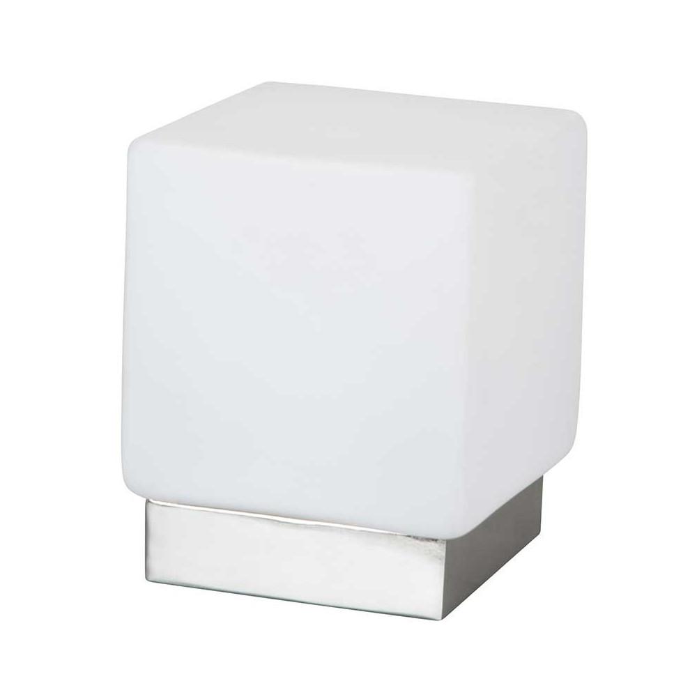 Lampe tactile blanche en forme de cube en vente sur lampe for Luminaire exterieur cube