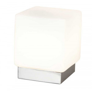 Lampe tactile verre et métal