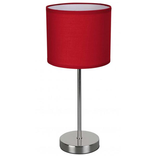 Lampe design abat-jour rouge