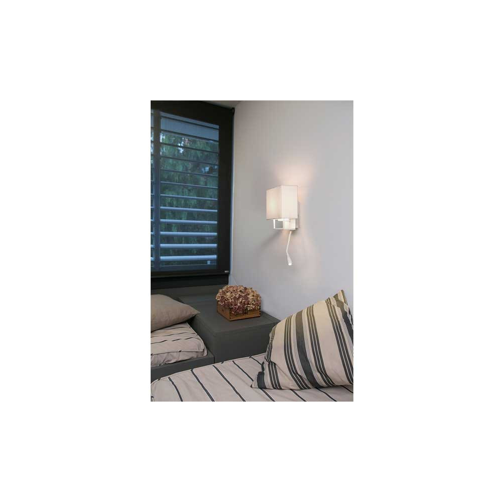 applique murale blanche avec liseuse d couvrir sur lampe. Black Bedroom Furniture Sets. Home Design Ideas