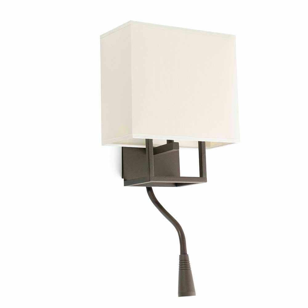 applique beige et marron avec liseuse en vente sur lampe. Black Bedroom Furniture Sets. Home Design Ideas