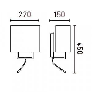dimensions de l'applique