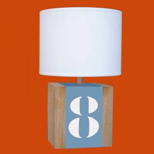 Lampe chene bleue
