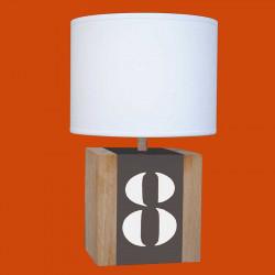 Lampe bois et taupe