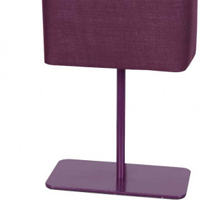 Lampe abat-jour rectangle violet