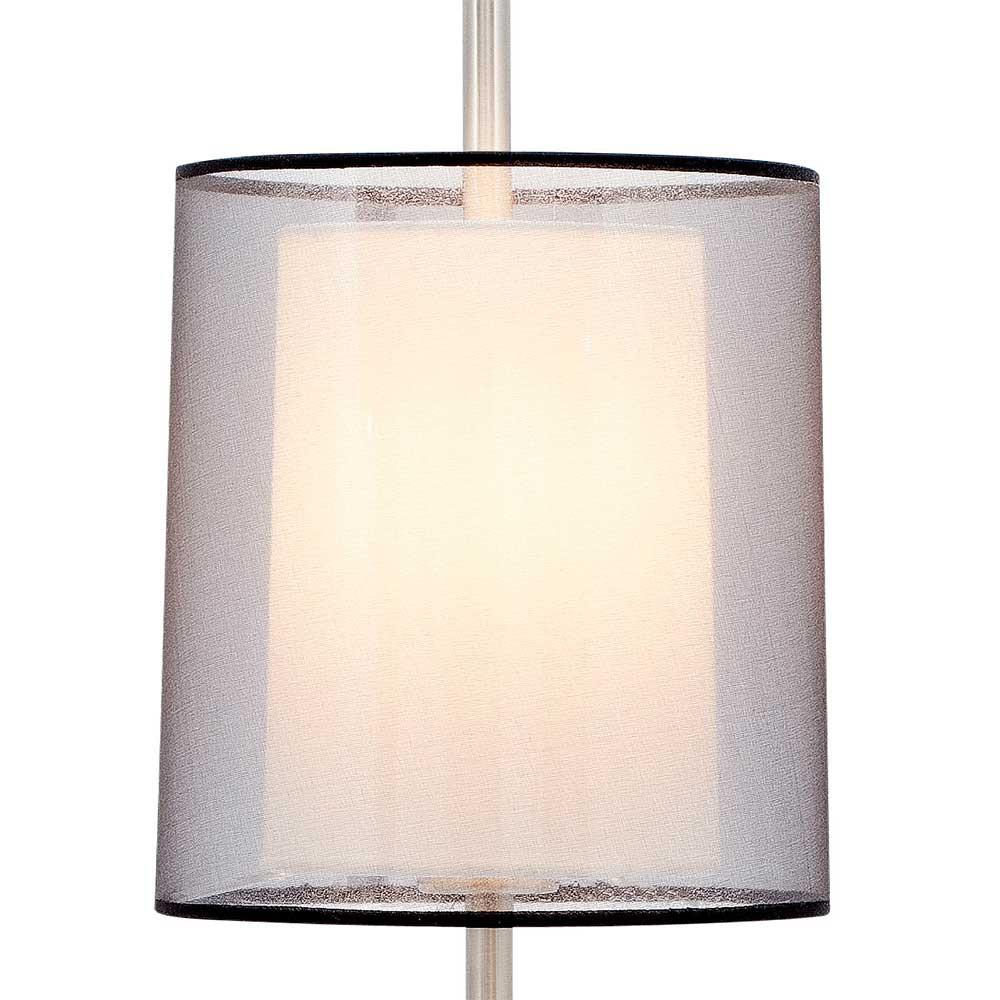 lampe poser haute avec un abat jour double en tissu lampe avenue. Black Bedroom Furniture Sets. Home Design Ideas