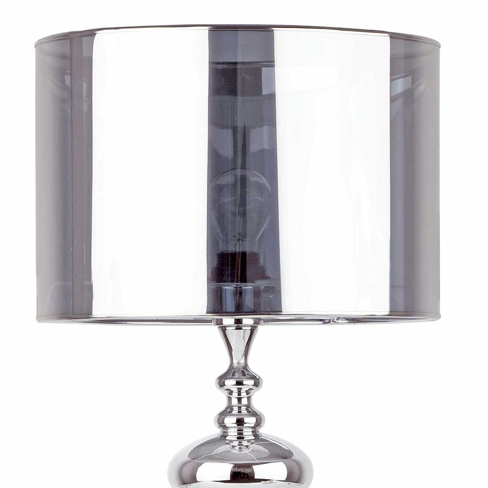 Lampe de table en m tal chrom en vente sur lampe avenue for Lampe de table rona