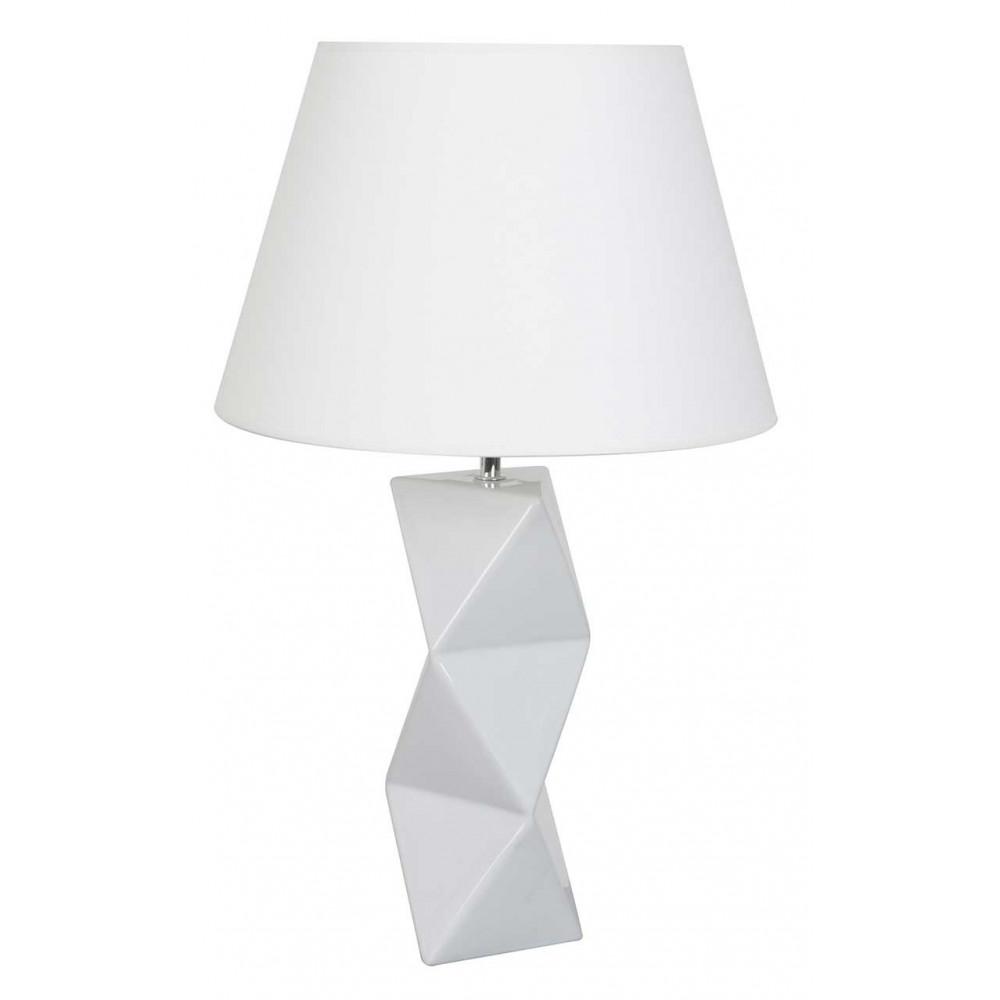 Lampe C Ramique Blanche Avec Abat Jour En Vente Sur Lampe