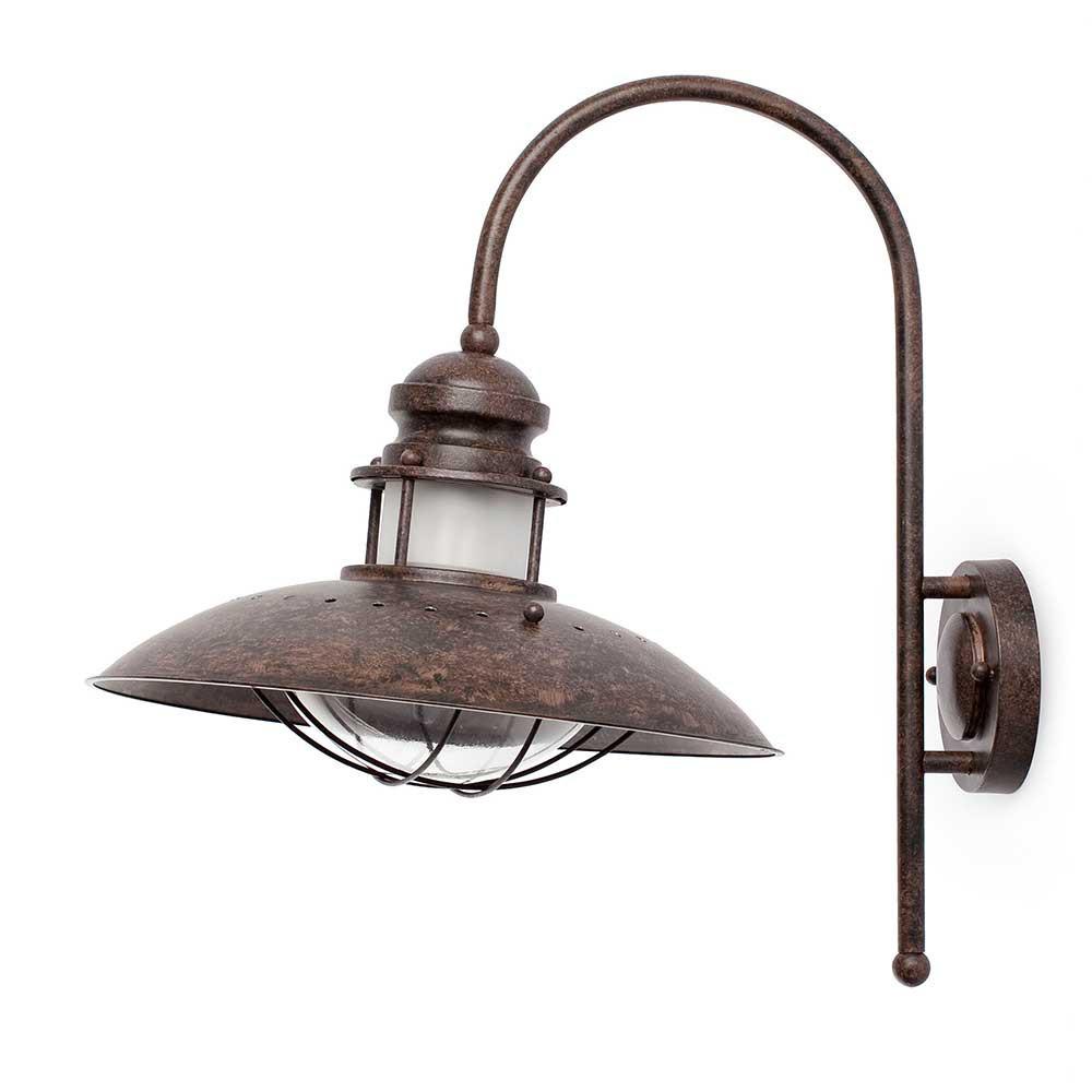 grande applique rouille ambiance marine lampe avenue. Black Bedroom Furniture Sets. Home Design Ideas