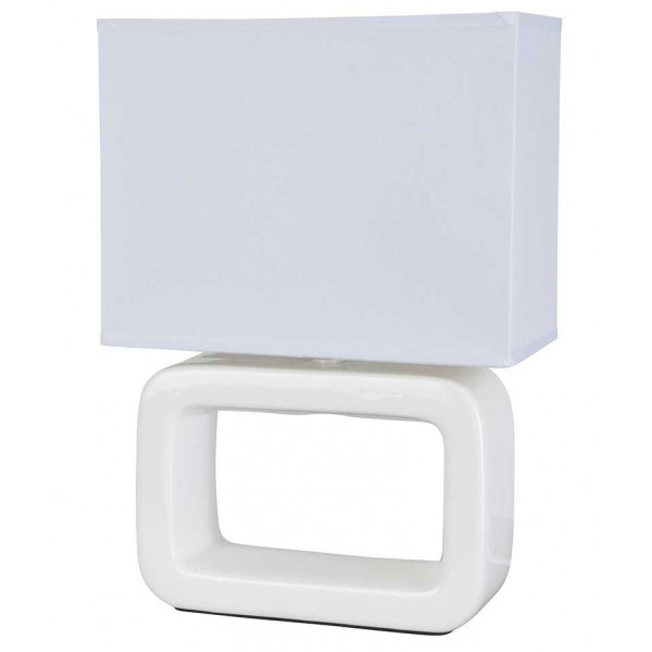 Lampe céramique rectangle