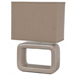Lampe beige céramique rectangle