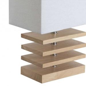 Lampe bois rectangulaire