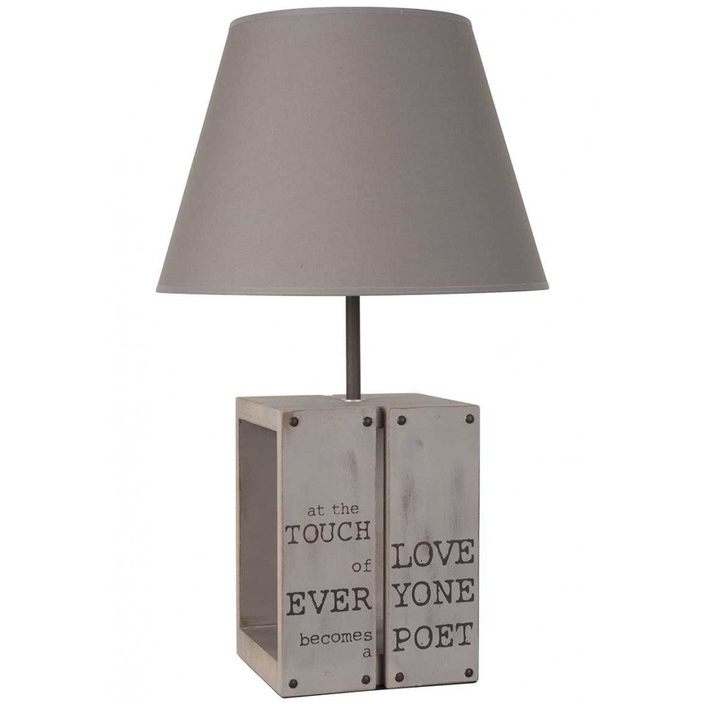 lampe couleur taupe esprit entrep t achat sur lampe avenue. Black Bedroom Furniture Sets. Home Design Ideas