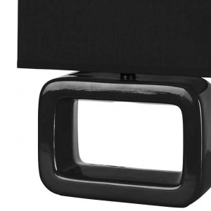 Lampe rectangle noire