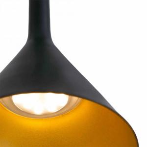 Suspension LED noire et dorée