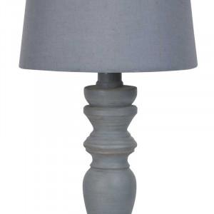 Lampe bougeoir bois