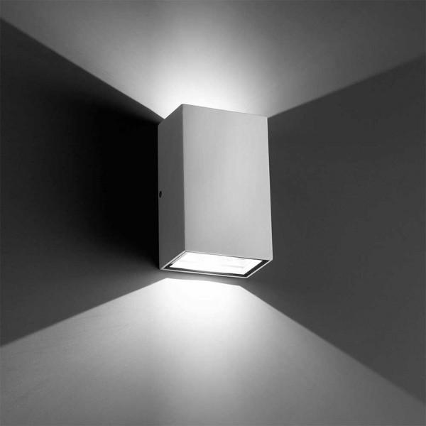 Applique led ext rieure rectangulaire blanche lampe avenue - Applique exterieur blanche ...