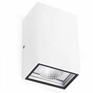 Applique LED extérieure rectangulaire blanche