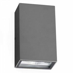 Applique LED extérieure rectangulaire grise