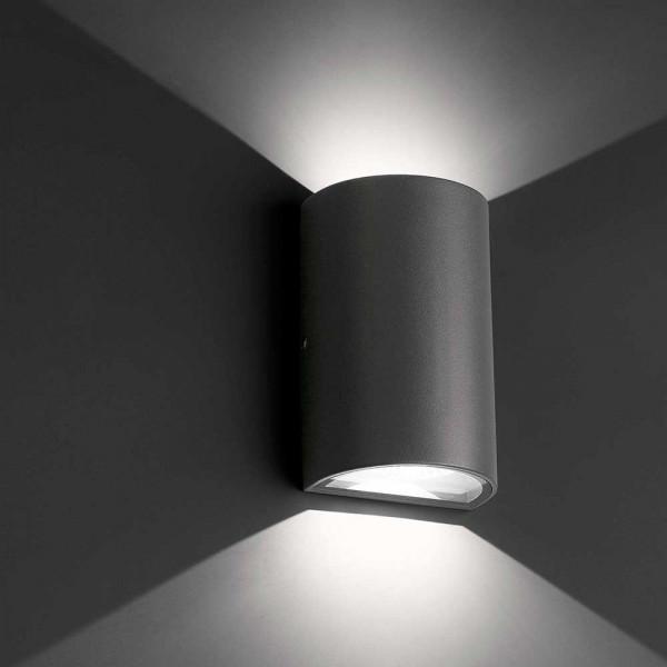 Applique LED extérieure gris foncé
