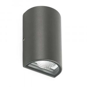 Applique LED extérieure grise